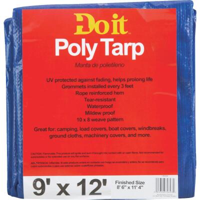 Do it Blue Woven 9 Ft. x 12 Ft. Medium Duty Poly Tarp