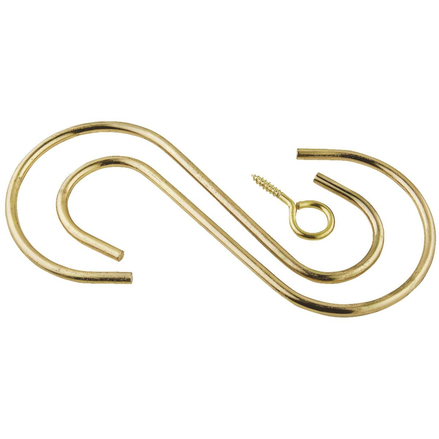 National Hardware 6 In. Brass Steel Extension Hook Kit Image 1