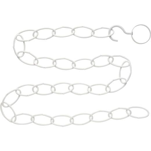 National 36 In. White Steel Hanging Plant Extension Chain/Hook Kit