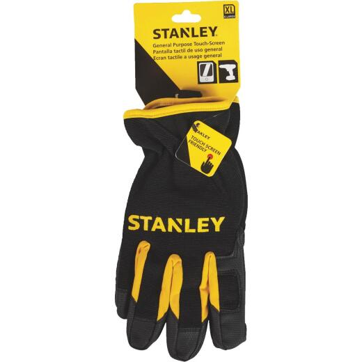 Stanley Men's XL Synthetic Fabric Touch Screen High Performance Glove