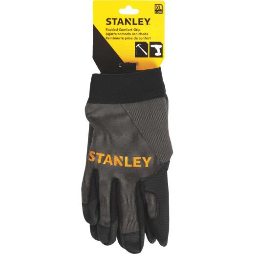 Stanley Men's XL Synthetic Fabric Padded Comfort Grip High Performance Glove