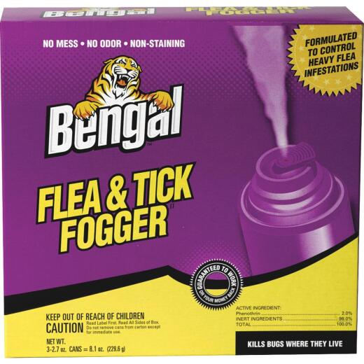 Bengal 2.7 Oz. Flea & Tick Indoor Insect Fogger (3-Pack)
