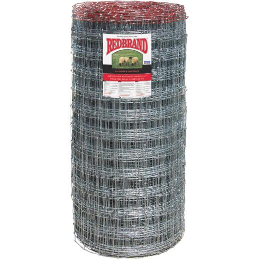 Keystone Red Brand Square Deal Knot 48 In. H. x 330 Ft. L. Galvanized Steel Sheep & Goat Fence