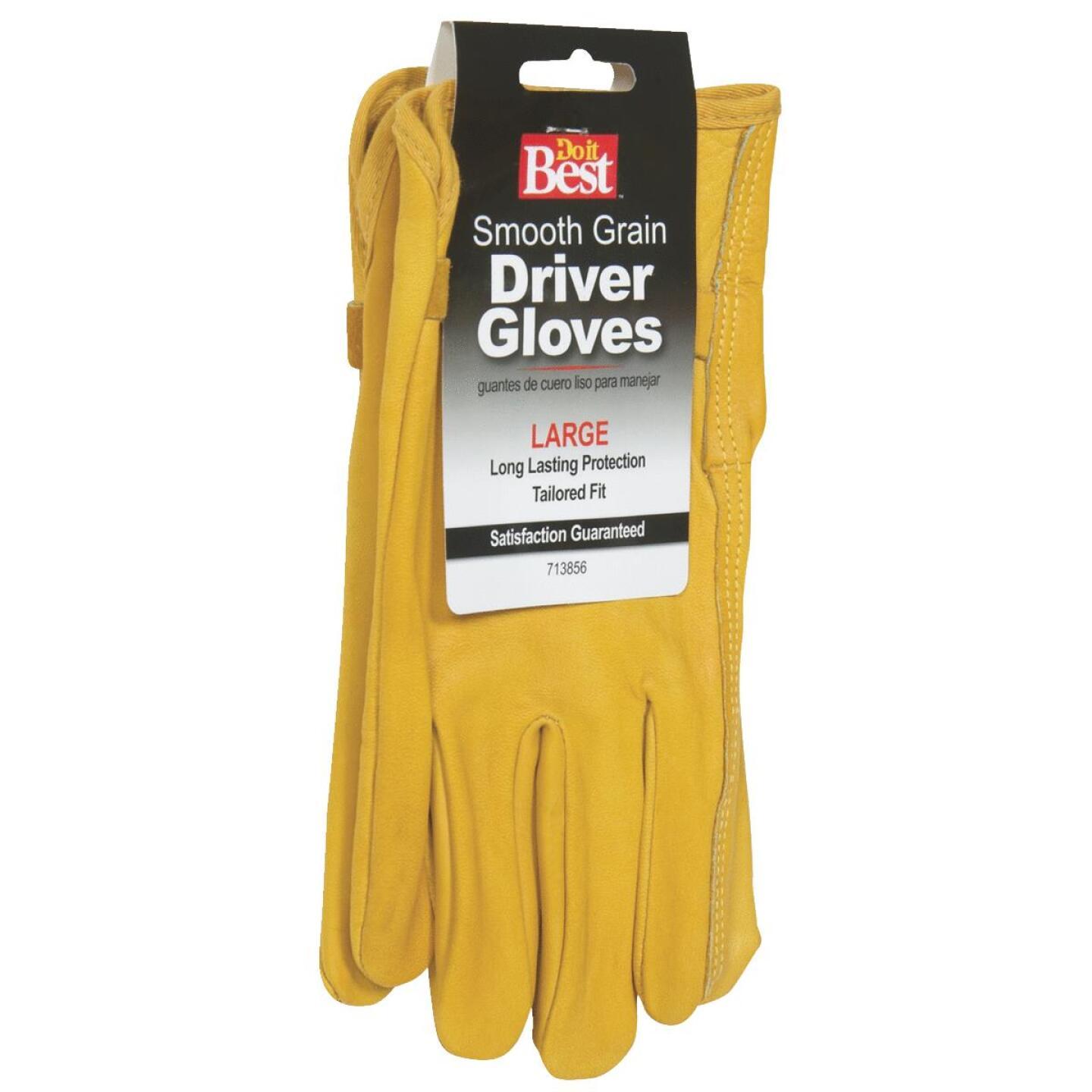 Do it Best Men's Large Leather Driver Glove Image 4