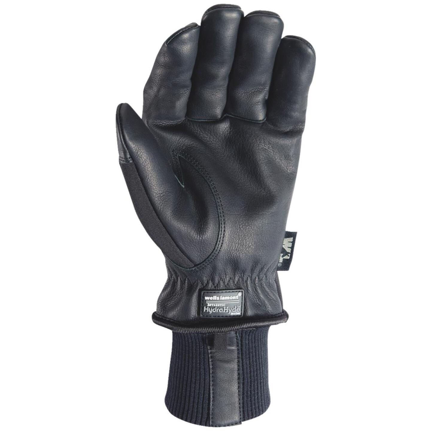 Wells Lamont HydraHyde Men's Large Grain Goatskin Black Insulated Work Glove Image 2