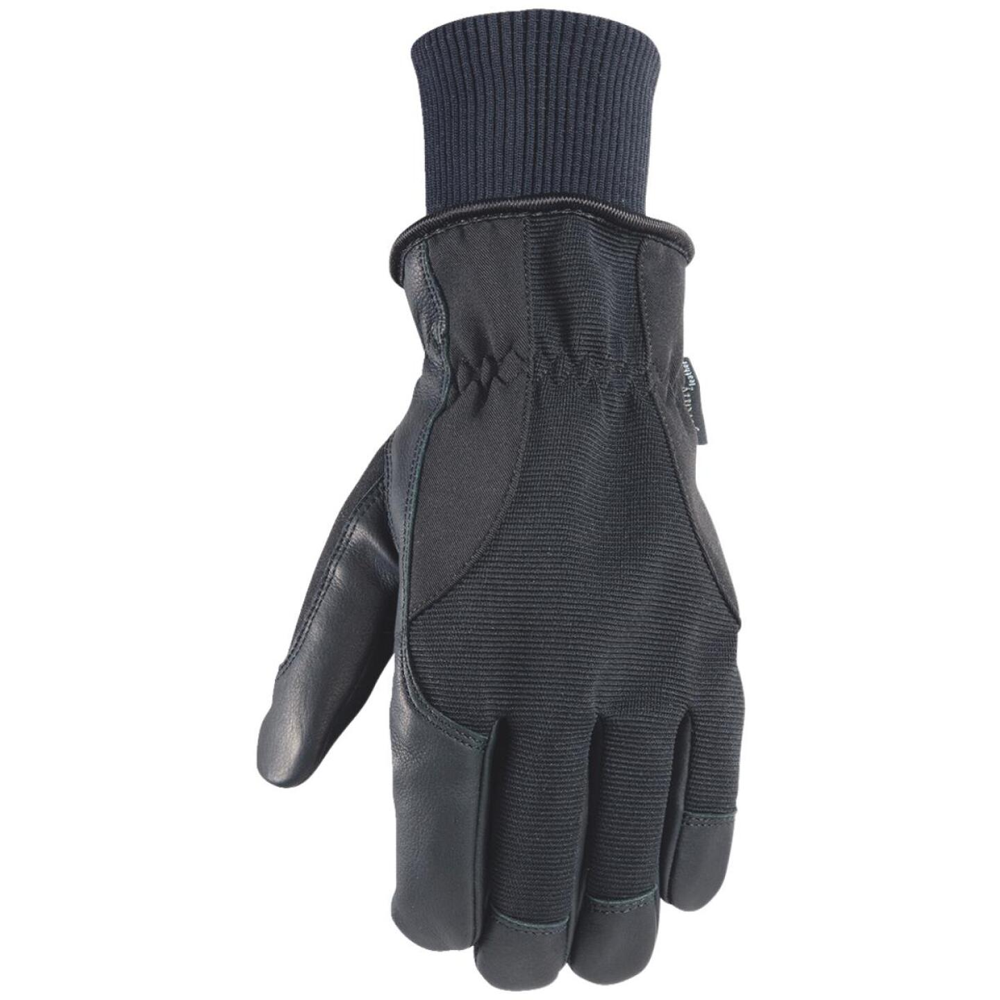 Wells Lamont HydraHyde Men's Large Grain Goatskin Black Insulated Work Glove Image 1