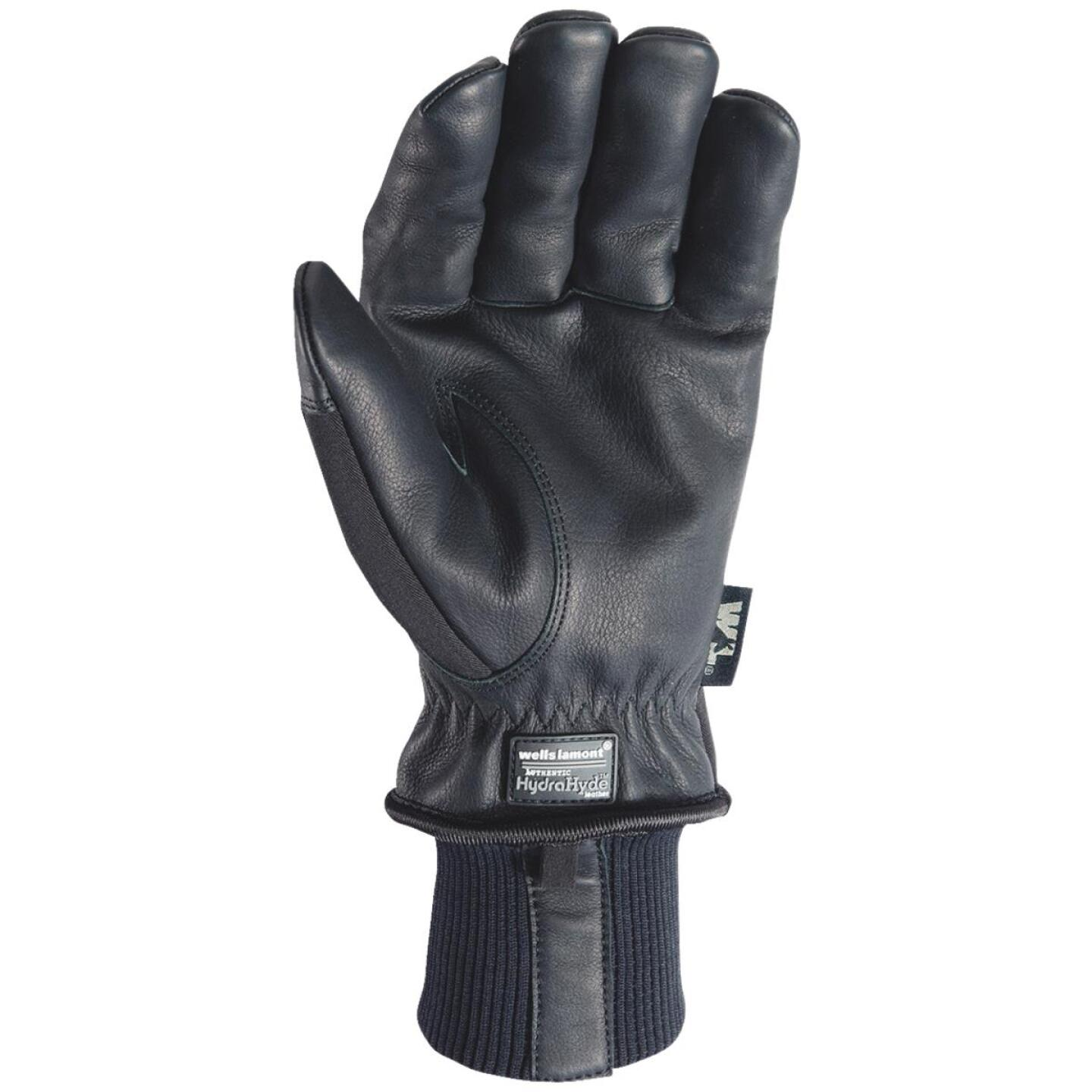 Wells Lamont HydraHyde Men's XL Grain Goatskin Black Insulated Work Glove Image 2