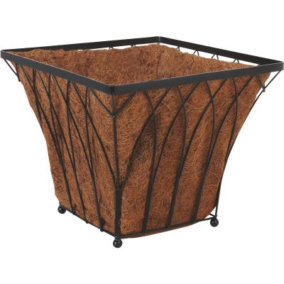 Best Garden 14 In. Steel Rod Black Planter