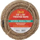 Do it 3/8 In. x 50 Ft. Natural Twisted Manila Fiber Packaged Rope Image 1