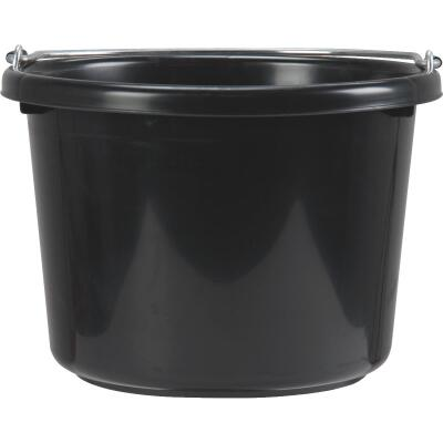 Little Giant Duraflex 8 Qt. Black Poly Bucket