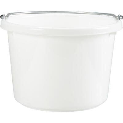 Little Giant Duraflex 8 Qt. White Poly Bucket