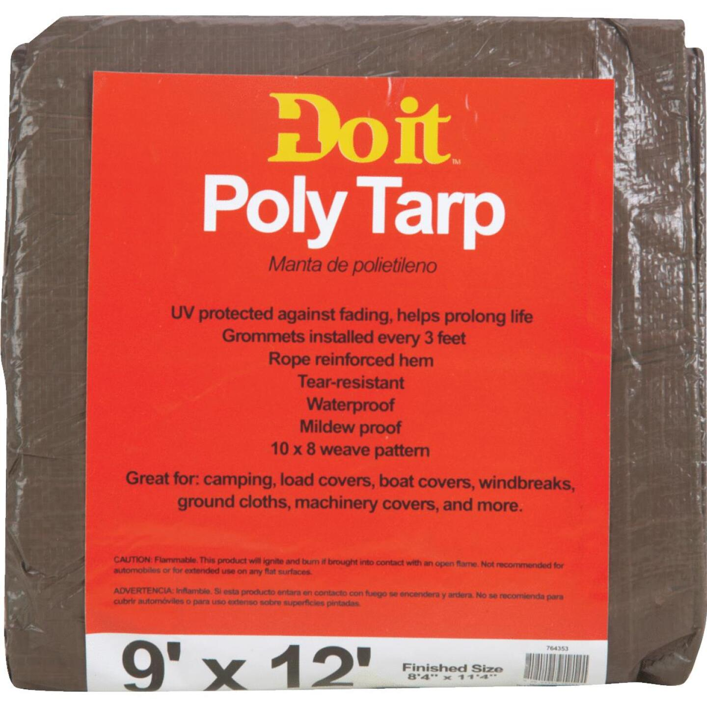 Do it Green/Brown Woven 9 Ft. x 12 Ft. Medium Duty Poly Tarp Image 1