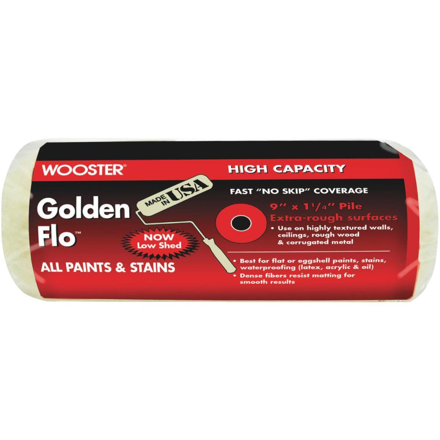 Wooster Golden Flo 9 In. x 1-1/4 In. Knit Fabric Roller Cover Image 1