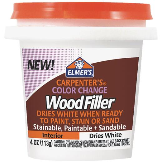 Elmer's Carpenter's 4 Oz. Color Change Wood Filler, White