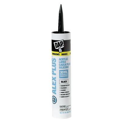 DAP ALEX PLUS All Purpose 10.1 Oz. Black Siliconized Acrylic Latex Caulk