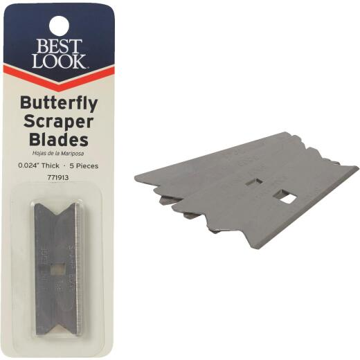 Best Look Butterfly Replacement Scraper Blade (5-Pack)