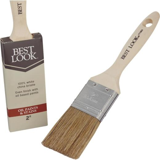 Best Look 2 In. Flat White Natural China Bristle Paint Brush