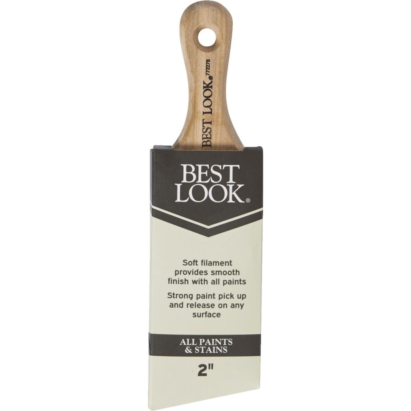 Best Look 2 In. Angle Sash Short Handle Paint Brush Image 3