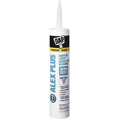 DAP ALEX PLUS All Purpose 10.1 Oz. Clear Siliconized Acrylic Latex Caulk