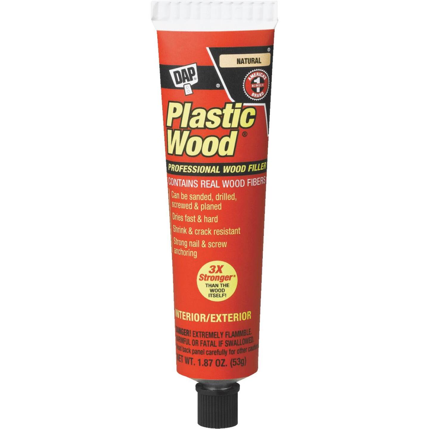 DAP Plastic Wood 1.8 Oz. Natural Solvent Professional Wood Filler Image 1
