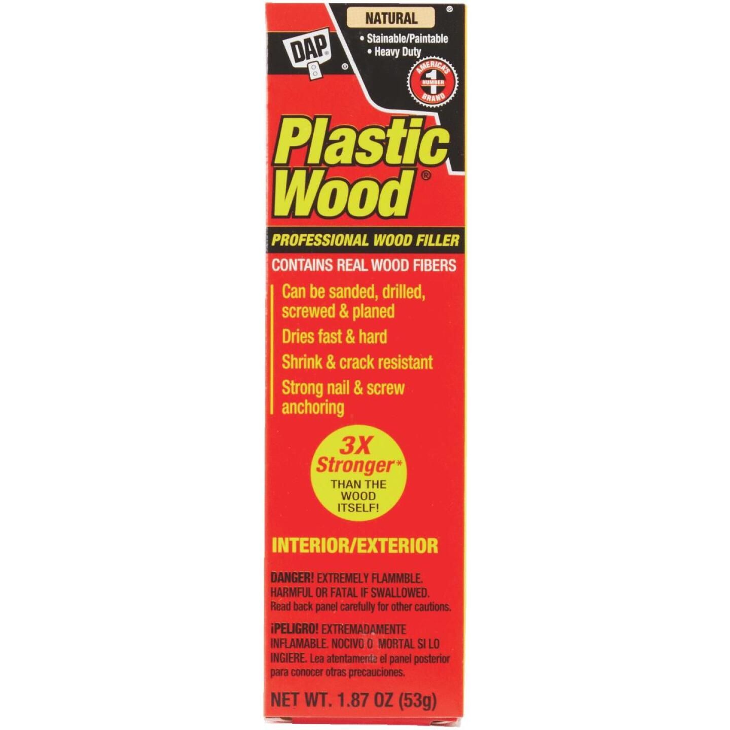DAP Plastic Wood 1.8 Oz. Natural Solvent Professional Wood Filler Image 2