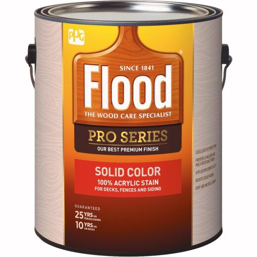 Flood 100% Acrylic Solid Color Stain, Cedar, 1 Gal.