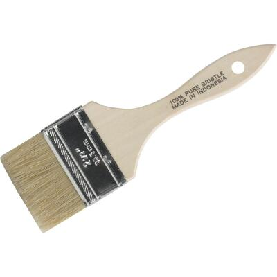 2-1/2 In. Flat Chip Natural Bristle Paint Brush