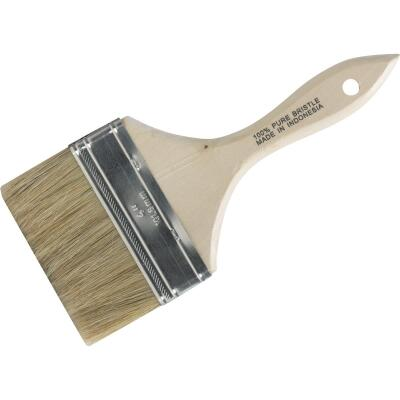 4 In. Flat Chip Wall Natural Bristle Paint Brush