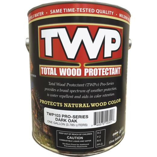 TWP100 Pro Series Semi-Transparent Wood Protectant Deck Stain, Dark Oak, 1 Gal.