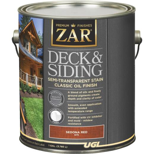 ZAR Semi-Transparent Deck and Siding Stain, Sedona Red, Gallon