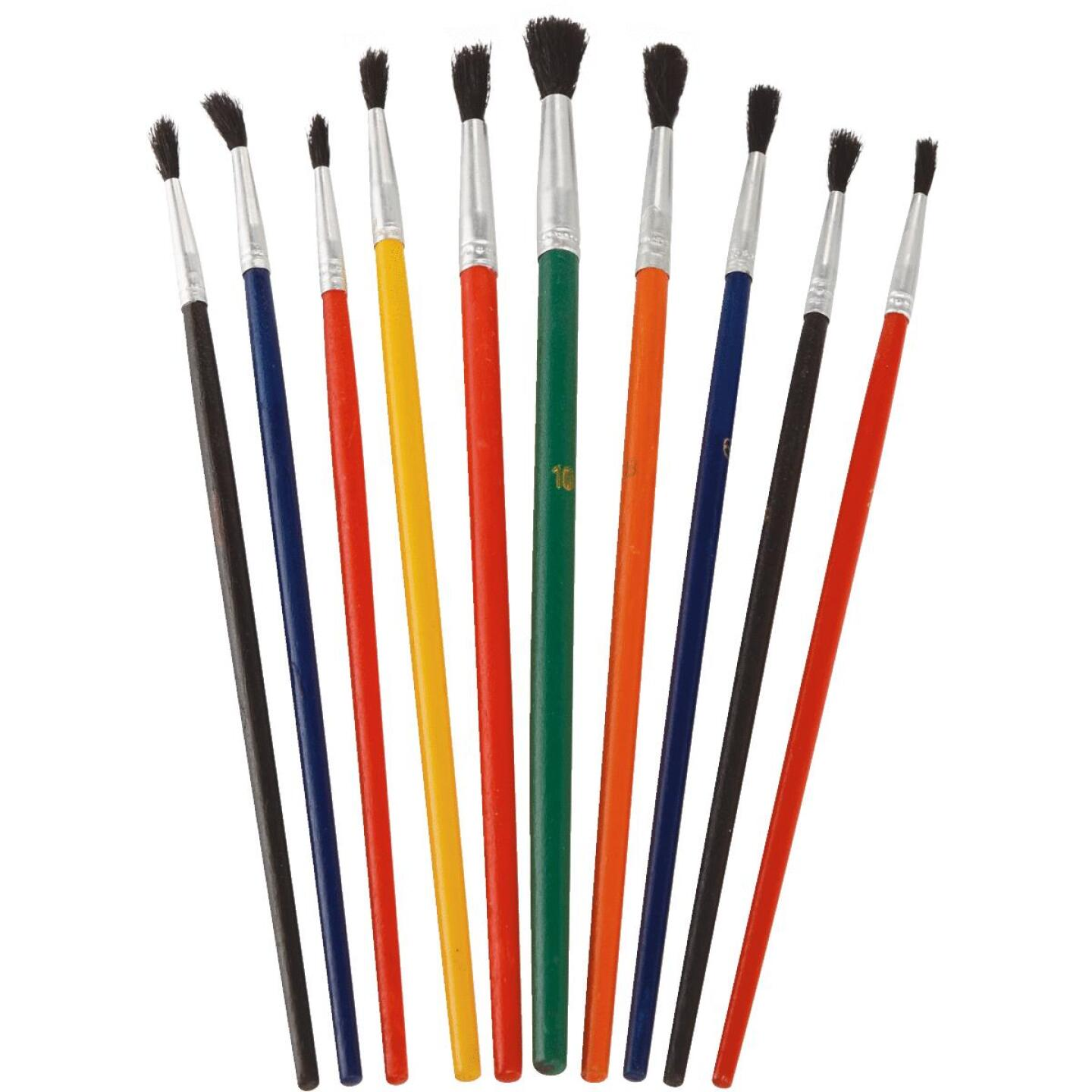 Smart Savers Assorted - 1/8 In. To 1/4 In. Polyester Artist Brush Set (10-Piece) Image 3