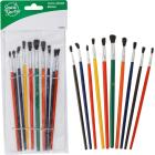 Smart Savers Assorted - 1/8 In. To 1/4 In. Polyester Artist Brush Set (10-Piece) Image 1