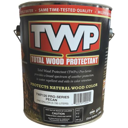 TWP100 Pro Series Semi-Transparent Wood Protectant Deck Stain, Pecan, 1 Gal.