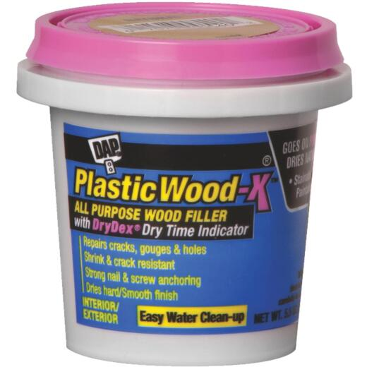 Dap Plastic Wood-X 5.5 Oz. All Purpose Wood Filler with DryDex Dry Time Indicator