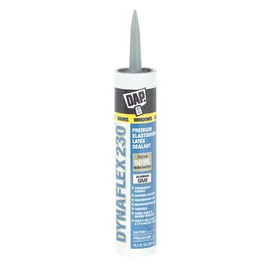 DAP DYNAFLEX 230 10.1 Oz. 100% Waterproof Window, Door, Siding & Trim Elastomeric Sealant, Gray