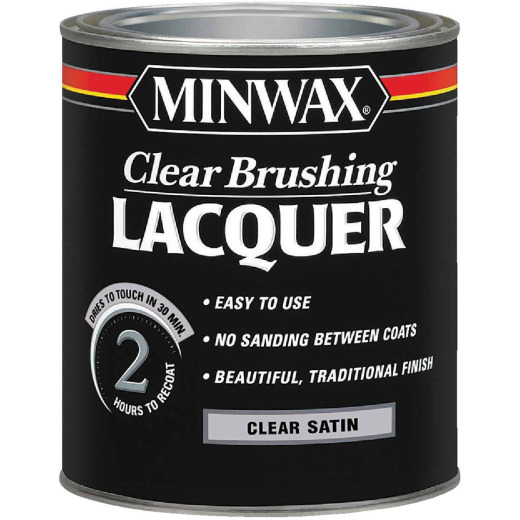 Minwax Satin Clear Brushing Lacquer, 1 Qt.