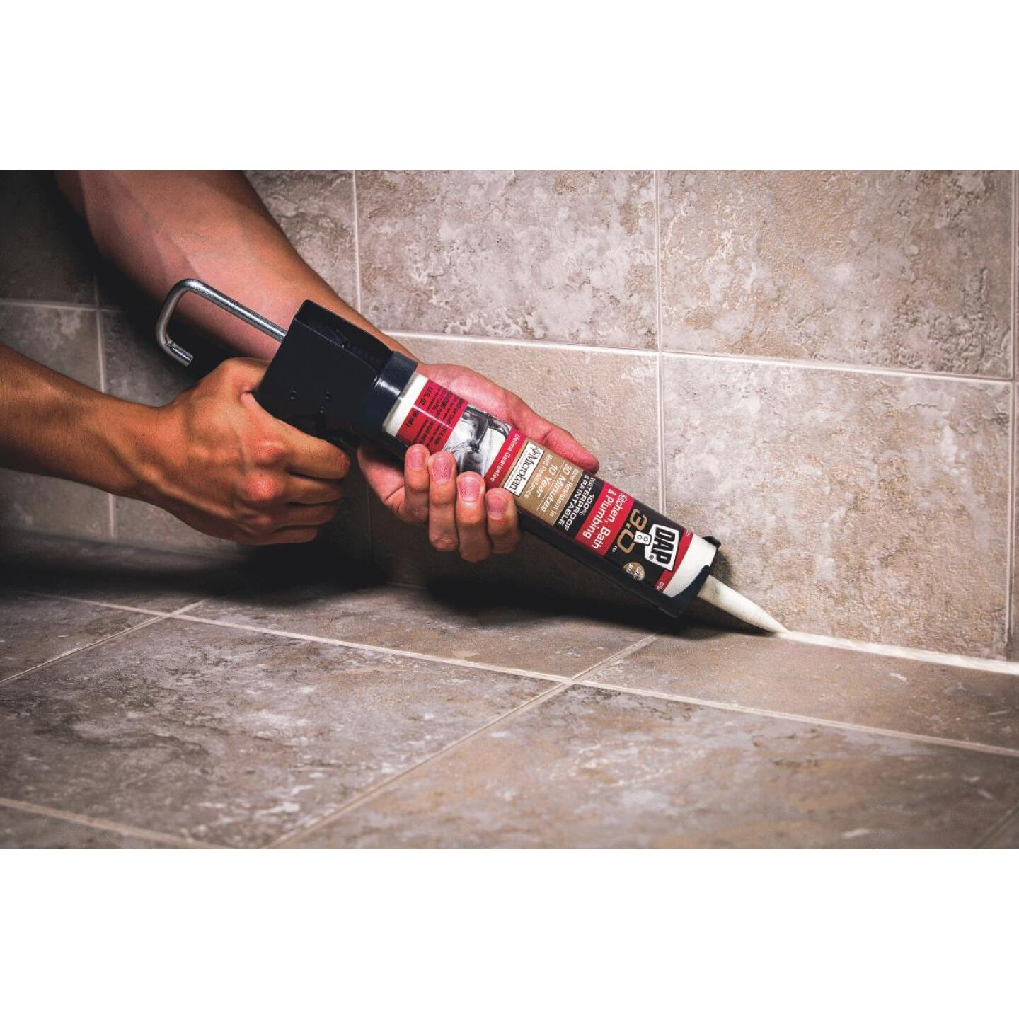 DAP 3.0 9 Oz. Gloss White Kitchen, Bath & Plumbing Caulk Image 3