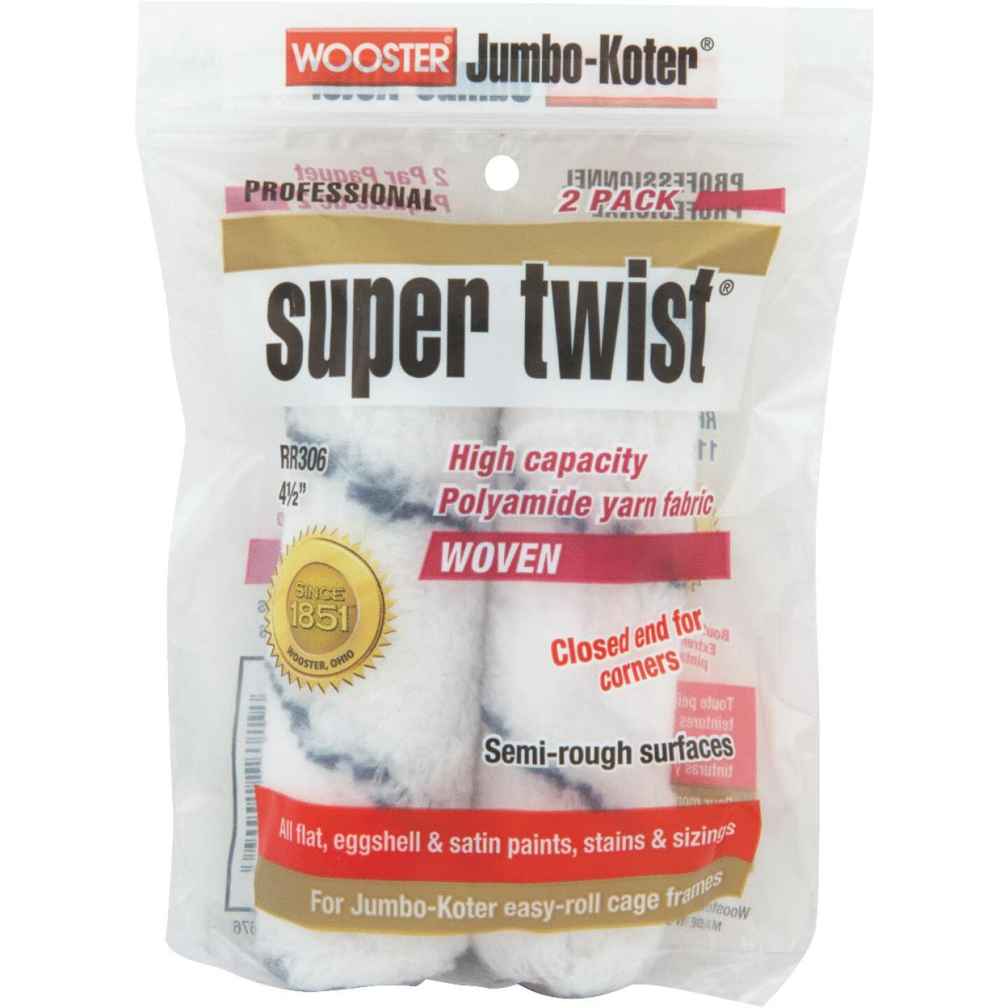 Wooster Jumbo-Koter Super Twist 4-1/2 In. Mini Knit Fabric Roller Cover (2-Pack) Image 1