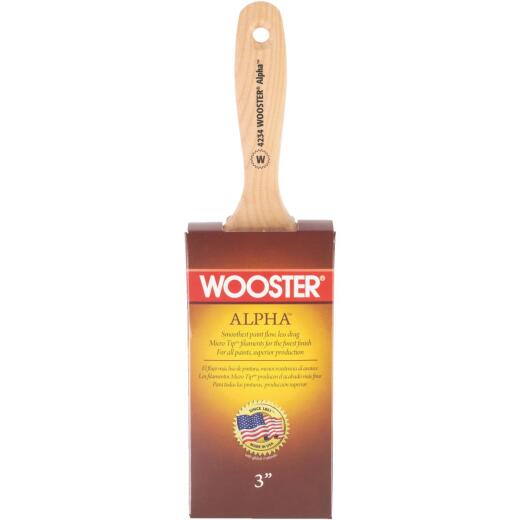Wooster Alpha 3 In. Firm Wall Paint Brush