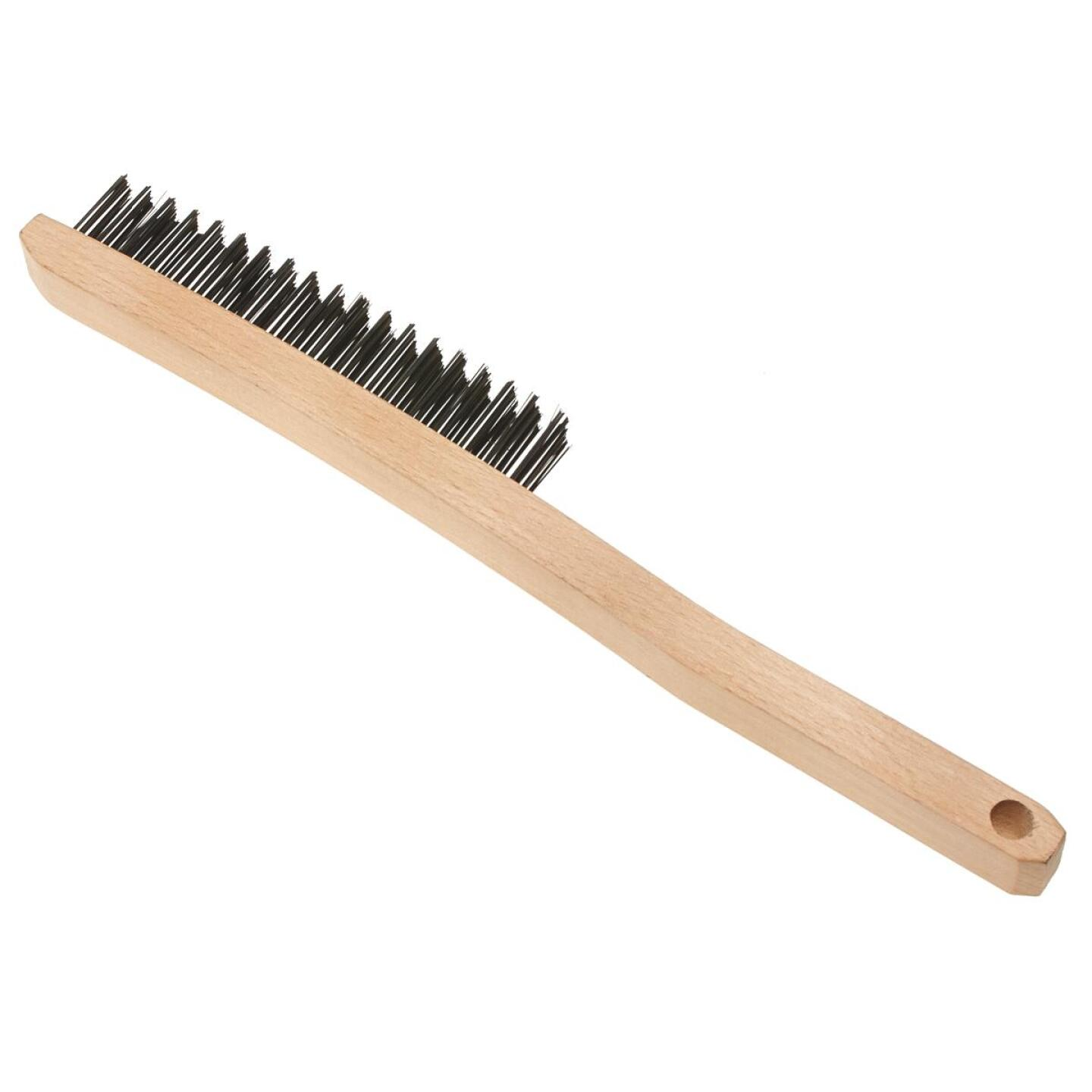 Best Look Long Curved Handle Wire Brush Image 1