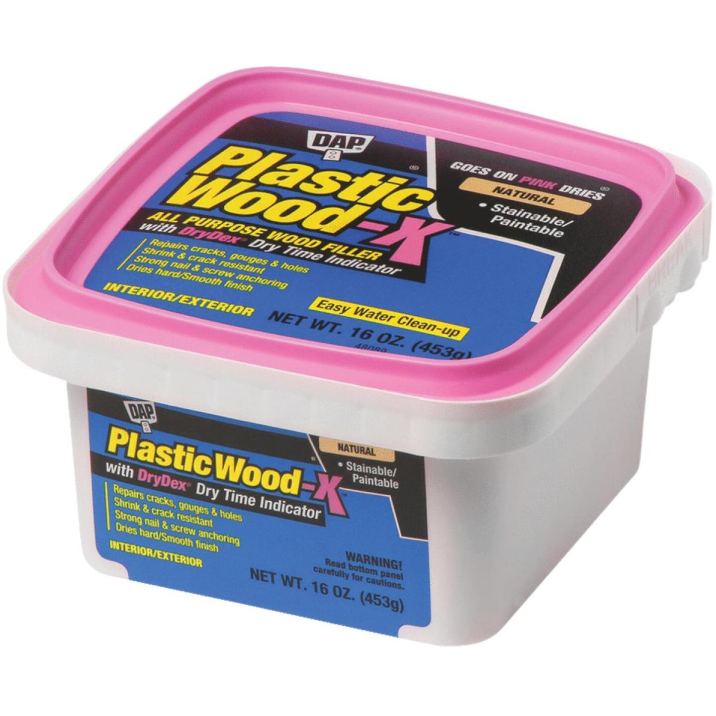 Dap Plastic Wood-X 16 Oz. All Purpose Wood Filler with DryDex Dry Time Indicator Image 1