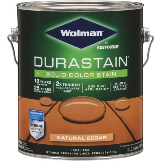 Wolman DuraStain 1 Gal. Natural Cedar One Coat Solid Color Exterior Stain
