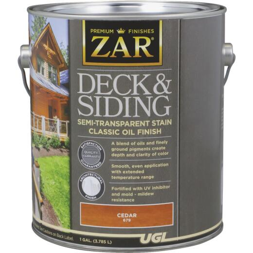 ZAR Semi-Transparent Deck and Siding Stain, Cedar, Gallon