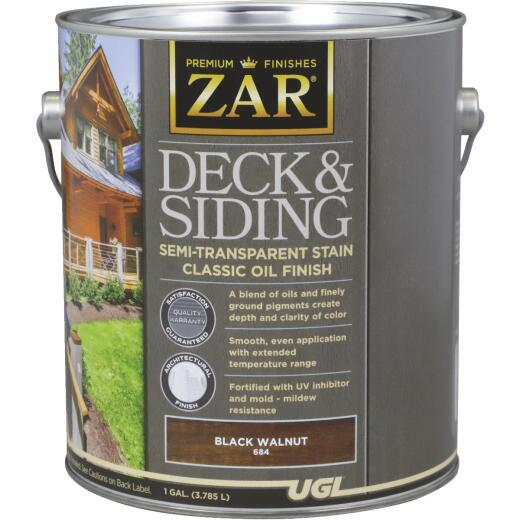 ZAR Semi-Transparent Deck and Siding Stain, Black Walnut, Gallon