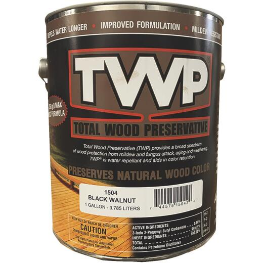 TWP1500 Series Low VOC Wood Preservative Deck Stain, Black Walnut, 1 Gal.