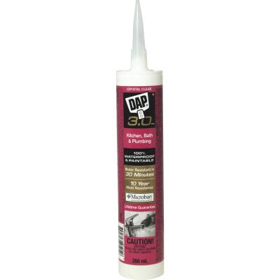DAP 3.0 9 Oz. Crystal Clear Kitchen, Bath & Plumbing Caulk