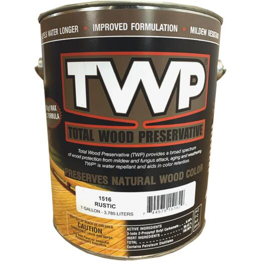 TWP1500 Series Low VOC Wood Preservative Deck Stain, Rustic, 1 Gal.