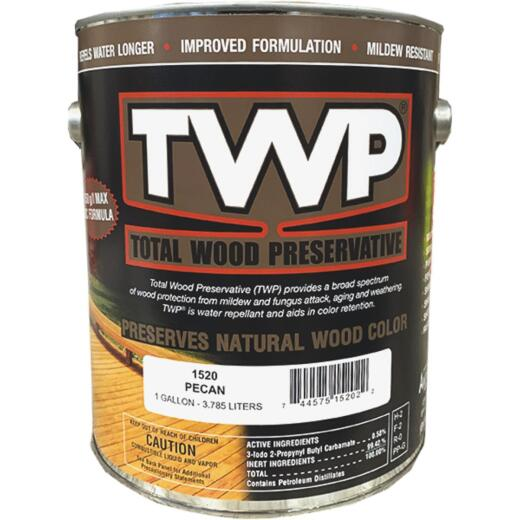 TWP1500 Series Low VOC Wood Preservative Deck Stain, Pecan, 1 Gal.