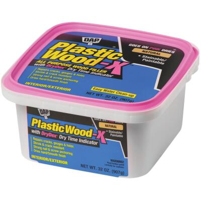 Dap Plastic Wood-X 32 Oz. All Purpose Wood Filler with DryDex Dry Time Indicator