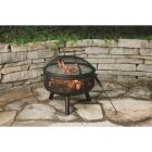 Outdoor Expressions 24 In. Antique Bronze Round Steel Fire Pit Image 3
